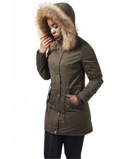 Parka Femme Urban Classics Olive Doublure Sherpa