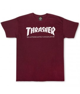 T-shirt Thrasher Skate Board Magazine Rouge Bordeaux
