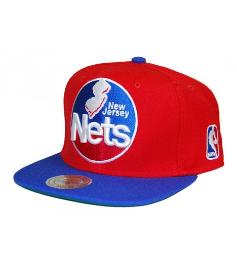 MITCHELL & NESS Snapback NETS New Jersey Rouge/bleu NBA