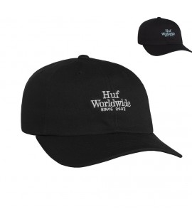 Casquette Incurvée Huf World Wide UV Curved Hat Noir
