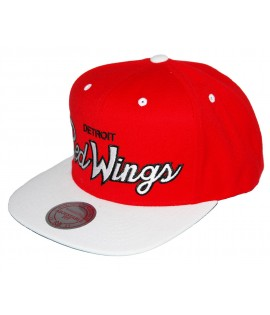 Casquette MITCHELL & NESS Snapback Detroit RED WINGS Rouge / Blanc
