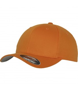 Casquette Adolescent Flexfit Orange Wooly Incurvée