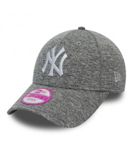 Casquette Femme New Era Jersey Fleck New York Yankees Gris Chiné 9Forty