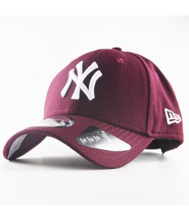 Casquette New Era 940 NY Yankees Diamond Rouge Bordeaux 9Forty