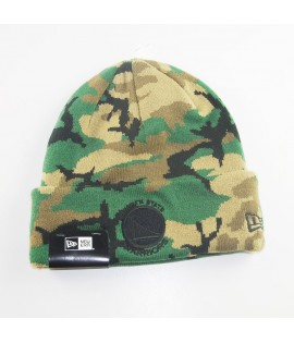 Bonnet New Era Golden States Warriors Camo Knit Vert Camouflage