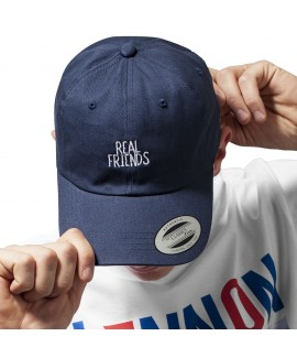 Casquette Incurvée Real Friends Flexfit Dad Cap Curved Bleu Marine