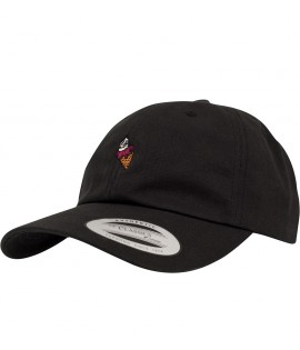 Casquette Incurvée Ice Cream Flexfit Dad Cap Curved Noir