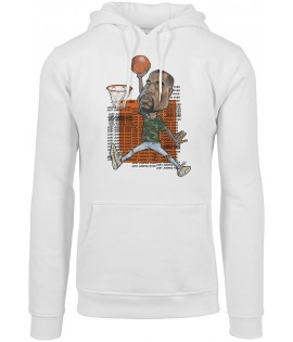 Sweat Capuche Mister Cartoon Jumpover Yee Hoody Blanc