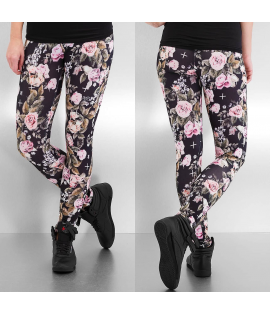 Legging Dangerous DNGRS Flower Noir Rose