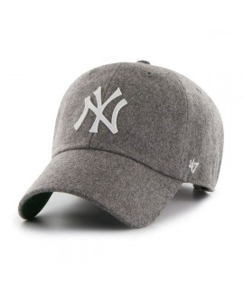 Casquette 47 Brand New York Yankees Droper' 47 Clean Up Grey Laine Melton