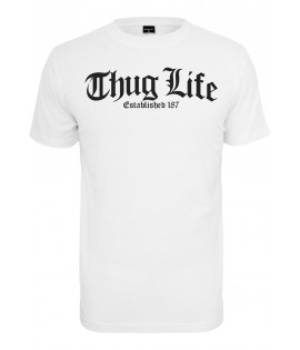 T-shirt Thug Life x Mister Tee Old English Blanc