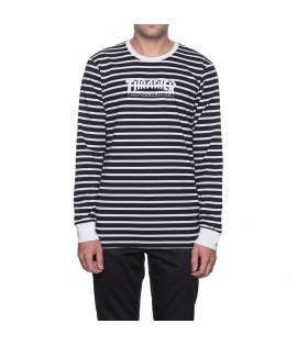 Sweat Thrasher x Huf TDS Stripe Crew Noir Crewneck