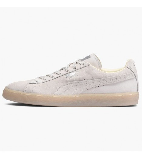 Chaussures Puma Suede White Mono Iced Blanc Basket