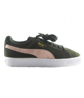 Chaussures Puma Suede Forest Night Olive Rose