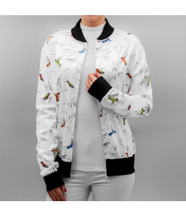 Veste Teddy Femme Bangastic Humming Bird College Jacket Blanc