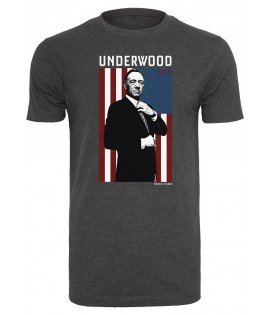T-shirt House Of Cards Contrast Flag Tee Gris Foncé