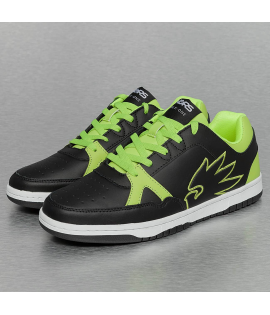 Baskets Dangerous DNGRS Logo Sneakers Noir Vert Lime