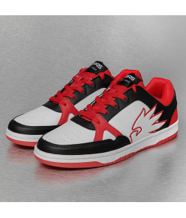 Baskets Dangerous DNGRS Logo Sneakers Blanc Rouge Noir