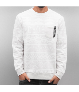 Sweat Just Rhyse Beluga Crewneck Blanc