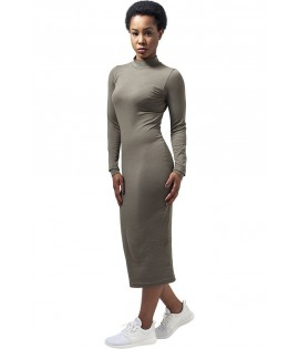 Robe Urban Classics Olive Stretch Col Tortue