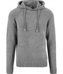 Pull Urban Classics Capuche Gris Chenille Hoody