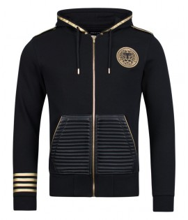 Sweat Zippé UNKUT Lead Noir - Or Hoody