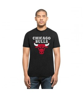 T-shirt 47 Brand Club Tee Chicago Bulls Noir Chiné