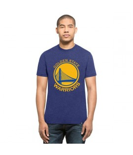 T-shirt 47 Brand Club Tee Golden State Warriors Bleu Chiné