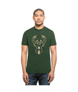 T-shirt 47 Brand Club Tee Milwaukee Bucks Vert Chiné