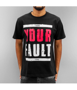 T-shirt Dangerous DNGRS Your Fault Noir