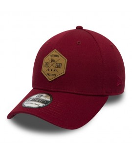 Casquette New Era 3930 Hex Patch Stretch Bordeaux