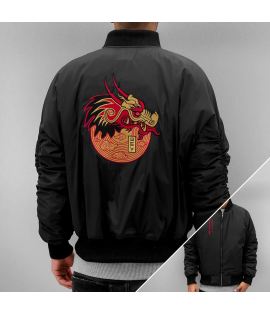 Blouson Who Shot Ya? Dragon Jacket Noir