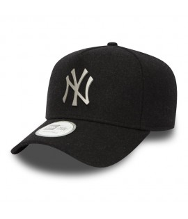 Casquette Trucker New Era NY Yankees Melton Metal Noir