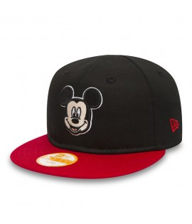 Casquette Bébé Snapback New Era Walt Disney Mickey Mouse Hero Essential Noir Infant 9Fifty