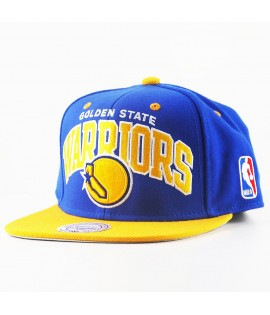 Casquette Mitchell & Ness Golden States Warriors Snapback NBA Bleu Roi Team Arch