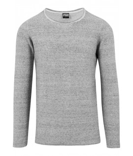 Pull Urban Classics Gris Chiné Maille Coton