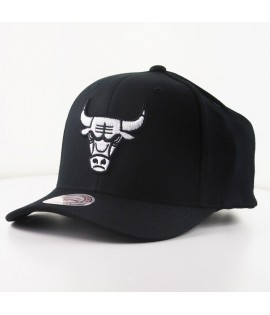 Casquette Courbée Mitchell & Ness Chicago Bulls NBA Noire Technologie Cool & Dry