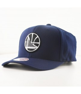 Casquette Courbée Mitchell & Ness Golden States Warriors NBA Bleu Marine Technologie Cool & Dry
