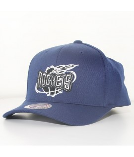 Casquette Courbée Mitchell & Ness Houston Rockets NBA Bleu Marine Technologie Cool & Dry