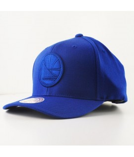 Casquette Courbée Mitchell & Ness Golden States Warriors NBA Bleu Roi Technologie Cool & Dry