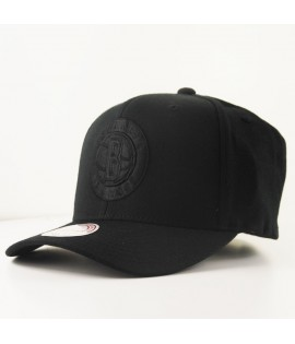 Casquette Courbée Mitchell & Ness Brooklyn Nets NBA Noire Technologie Cool & Dry