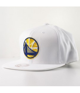 Casquette Mitchell & Ness Golden States Warriors Snapback Blanche Logo