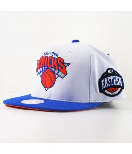 Casquette Mitchell & Ness New York Knicks Snapback Blanche Logo
