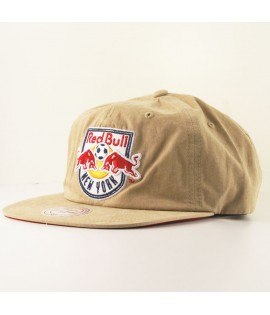 Casquette Mitchell & Ness New York Red Bull Strapback MLS Kaki Logo