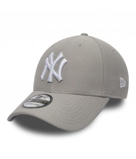 Casquette New Era 3930 NY Yankees Diamond Gris Blanc