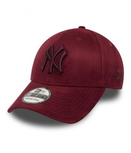 Casquette New Era 3930 New York Yankees Stretch Suède Bordeaux