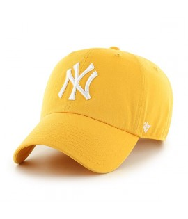 Casquette 47 Brand New York Yankees Clean Up Jaune Gold
