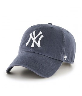 Casquette 47 Brand New York Yankees Vintage Clean Up Gris Charbon