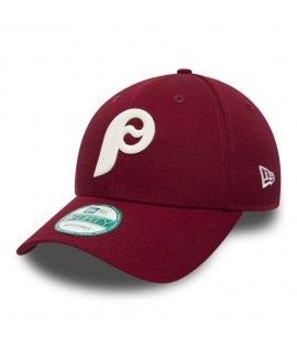 Casquette New Era 940 Philadelphie Phillies Flock Logo Bordeaux
