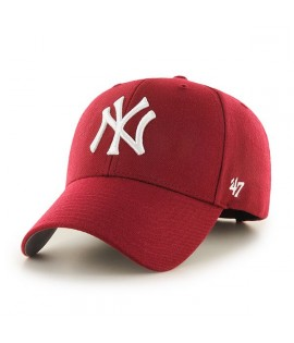 Casquette 47 Brand New York Yankees MVP Cardinal Rouge